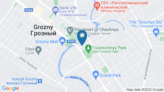 Grozny City Hotel Map