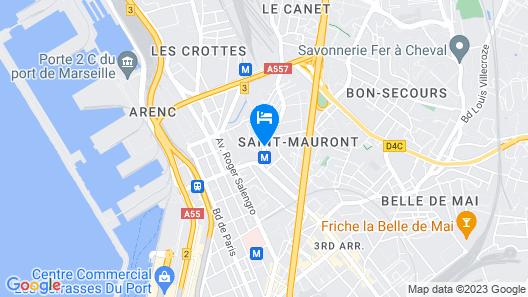 Montempô Marseille Centre Euromed Map