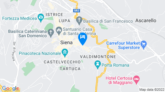 Bed and Breakfast Sallustio Rooms Map