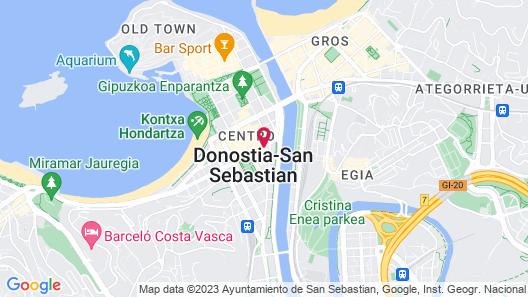 Pensión Donostiarra Map