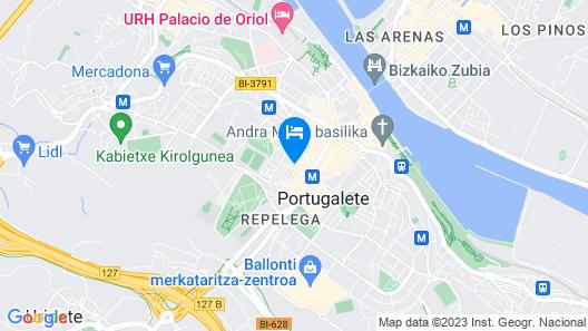 Albergue Bide Ona Map