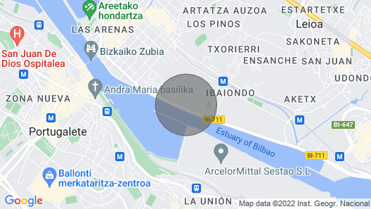 Near the beach and Bilbao Lolita Pink apartment, 2 bedrooms and 1 bathroom Map