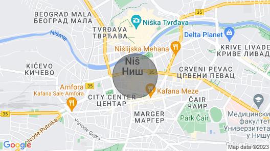 Apartment Centar Studio Smile Map