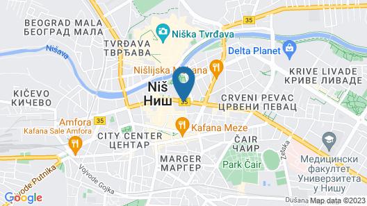 New City Hotel & Restaurant Niš Map