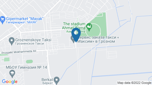 thelocal Hotels Grozny Map