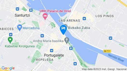 The Originals Bilbao Nord Gran Puente Colgante Map