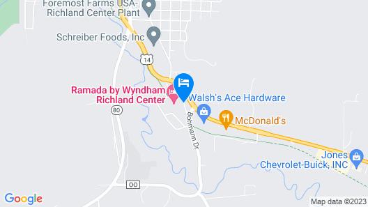 Ramada by Wyndham Richland Center Map