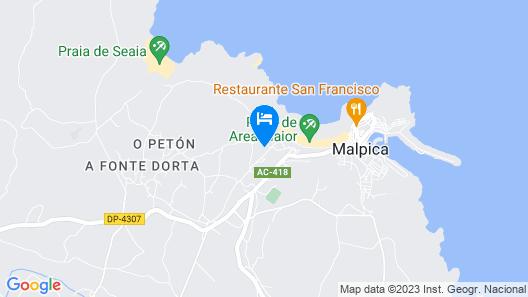 Malpica A Coruna 102447 2 Bedroom Apartment By Mo Rentals Map