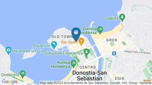 San Sebastians most historic street Map
