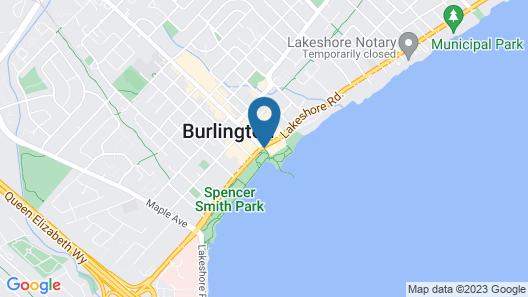 Waterfront Hotel Downtown Burlington Map