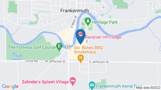 Bavarian Inn of Frankenmuth Map