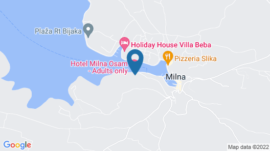 Hotel Milna Osam - Adults only Map