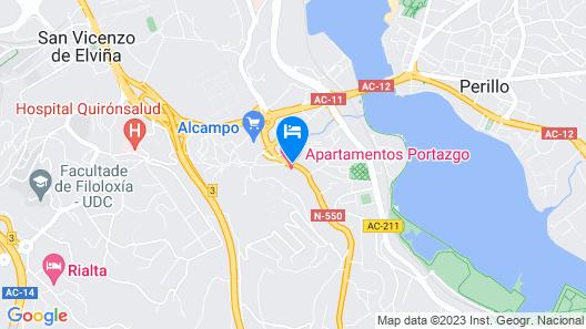 Apartamentos Attica21 Portazgo Map