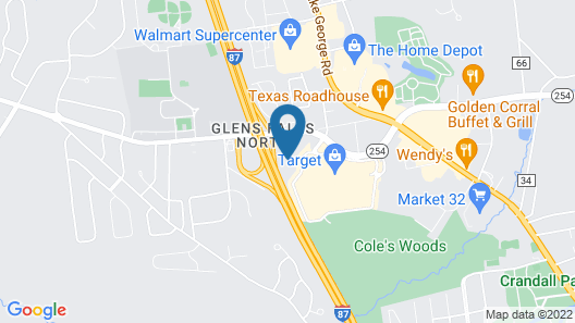 Home2 Suites by Hilton Queensbury Lake George Map