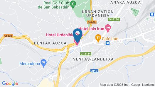 Hotel Urdanibia Park Map
