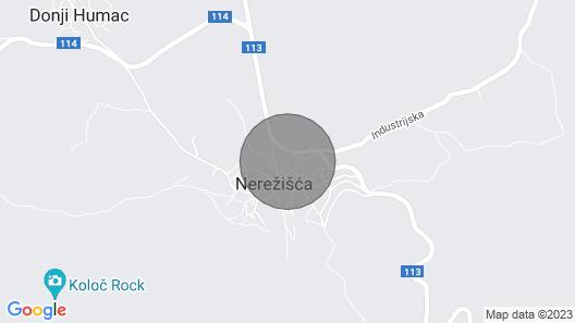 Apartment Rata - Nerezisca, Island Brac, Croatia Map