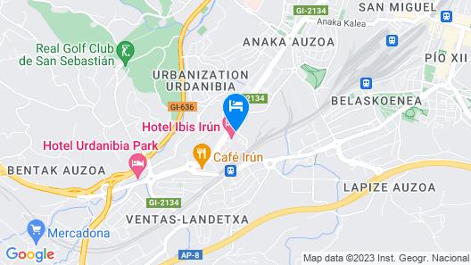 ibis Irun Map