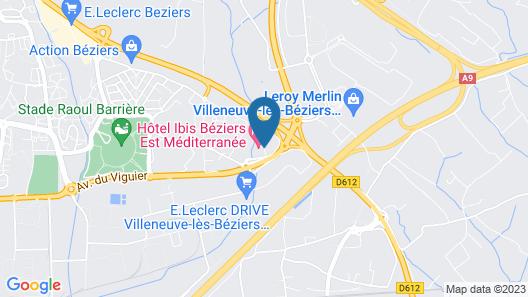 Hôtel ibis Beziers Est Mediterranee Map