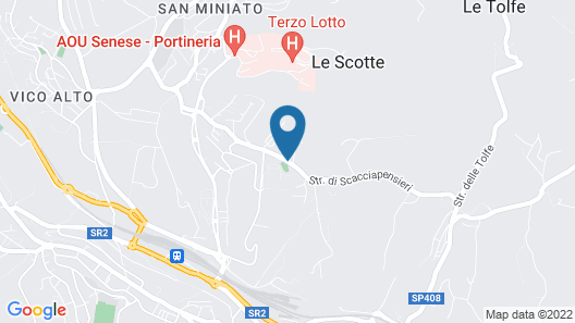 Camping Siena Colleverde Map