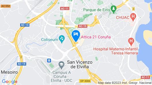Hotel Attica 21 Coruña Map