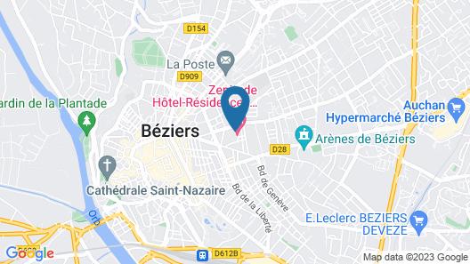 Zenitude Hôtel-Résidences Béziers Centre Map