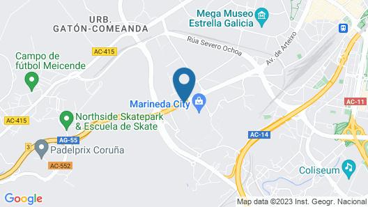 Hotel Carrís Marineda Map