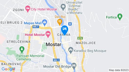 Hostel Miran Mostar Map