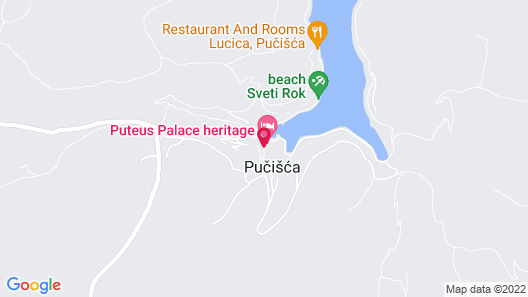 Holiday house Žarko  - Pucisca, Island Brac, Croatia Map
