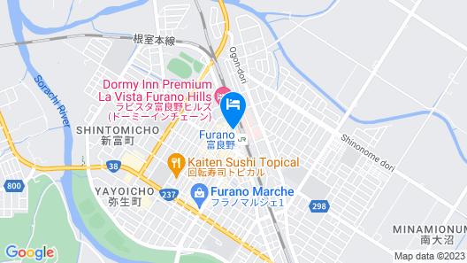 Furano Natulux Hotel Map