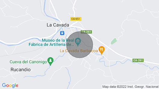 Exclusive glamping in CANTABRIA with large TENT stores equipped Map