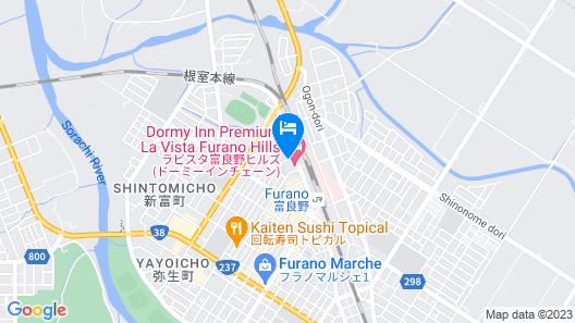 LA VISTA Furano Hills Hot Springs Map