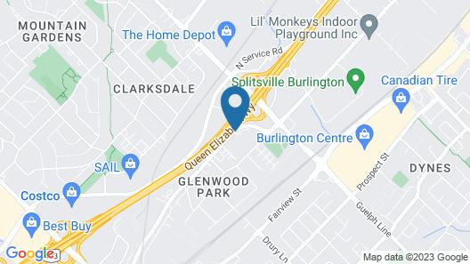 Best Western Plus Burlington Inn & Suites Map