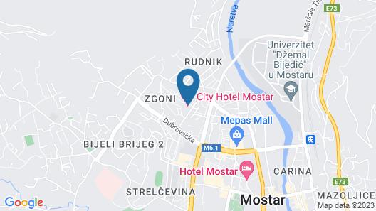 City Hotel Mostar Map