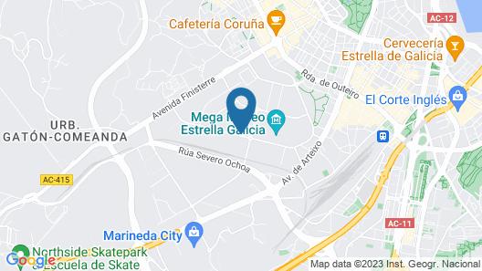 ibis Styles A Coruña Map