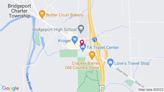 Knights Inn Bridgeport Map