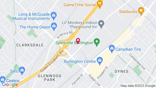 Holiday Inn Burlington Hotel & Conference Centre, an IHG Hotel Map