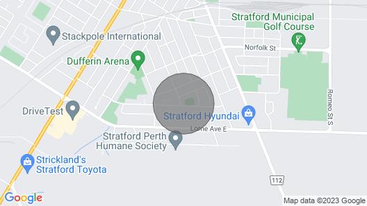 Centre Stage Stratford! 3 Bedroom Map
