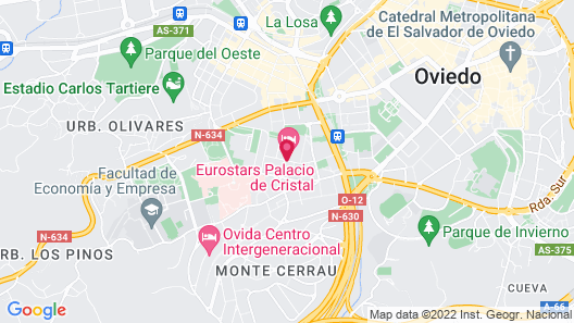 Eurostars Palacio de Cristal Map
