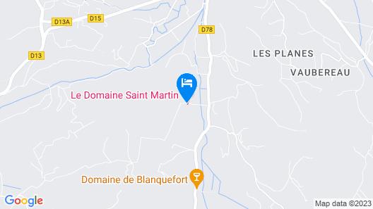Le Domaine Saint Martin Map
