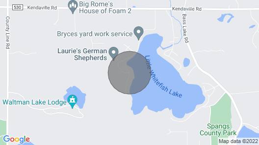 Vacation Home on Little Whitefish Lake Map