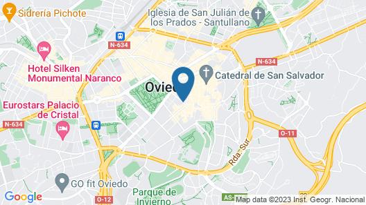 Hotel Fruela Map