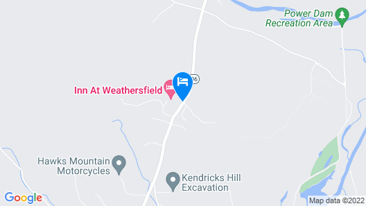 The Inn at Weathersfield Map