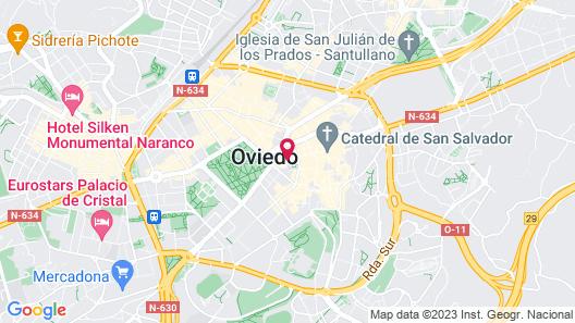 NH Oviedo Principado Map