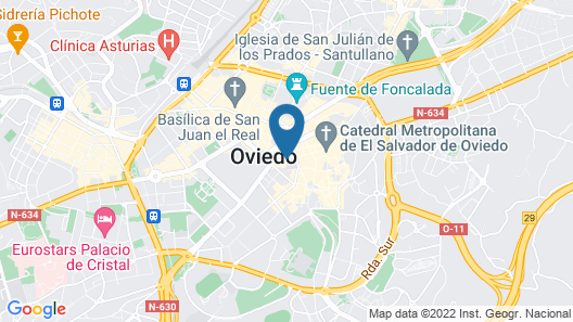 NH Oviedo Principado Map