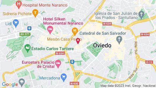 Barceló Oviedo Cervantes Map