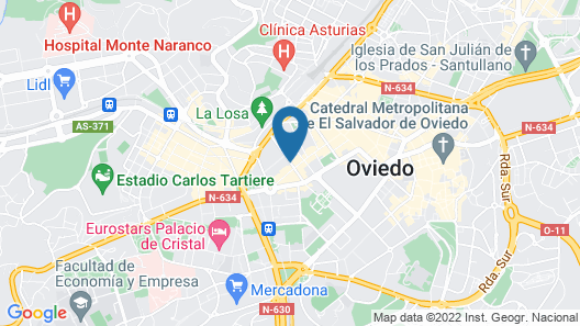 Barceló Oviedo Cervantes Map