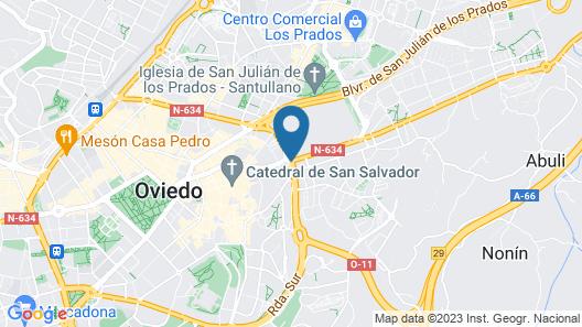 Hotel Astures Map