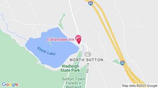 Follansbee Inn Map