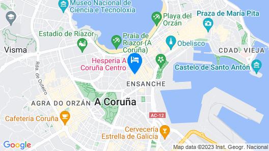 Hesperia A Coruña Centro Map