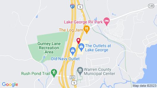 Econo Lodge Lake George Outlets Map
